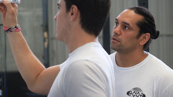 zak taylor y gensen palmer entrenadores de crossfit tam madrid